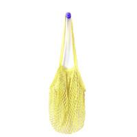 bolsa de moda longa alça venda por atacado-Moda reutilizável saco de compras de malha net tartaruga tecido de algodão longo alça de ombro sacos de compras de frutas bolsa de armazenamento totes saco de viagem de praia