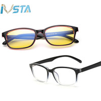 gafas de animales al por mayor-IVSTA Gafas de luz azul contra el marco óptico Gafas de computadora Hombres para juegos Gafas de rayos azules con receta Gafas graduadas Miopía transparente