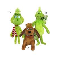 nano grün großhandel-18cm 28cm 32cm Wie das Grinch Weihnachten angefüllte Plüschpuppen 2018 stahl Neue Karikatur-Grün-Grinch-Tätigkeits-Abbildung spielt Kindergeschenk