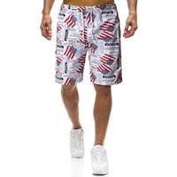 ingrosso imbarco americano-USA Stampa Beach Sports Pantaloni da corsa Uomo che nuota allentato Quick Drying Pantaloncini da corsa Spandex Mens American Flag Pantaloncini da bagno