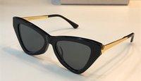 metal çerçeveler takılar toptan satış-DONNAIS Lüks Güneş Gözlüğü metal Yarım çerçeve büyüleyici kedi göz gözlük avant-garde tasarım stil en kaliteli UV400 lens koruma gözlük