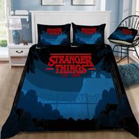 película tamaño queen al por mayor-Hot Movie Stranger Things Juego de cama en 3D Impreso Funda Nórdica Conjunto Doble Completo Queen King Size Dropshipping