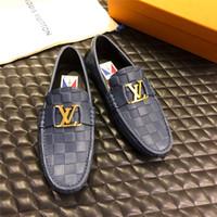 Wholesale best office shoes for sale - Group buy True leather men business shoes luxury design best quality leisure business shoes flat sole metal decoration comfortable fashion colors