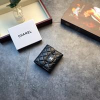 para çantası toptan satış-Kadınlar için 09211 2019 En kaliteli orijinal klasik cüzdan moda deri uzun kese para çantası fermuar kese sikke cebi debriyaj cüzdan