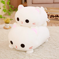 Wholesale valentines stuffed animals resale online - 1pc cm Kawaii Lying Cat Plush Soft Pillow Cute Stuffed Animal Toys Doll Lovely Toys for Kids Girls Valentines Birthday Gift SH190913