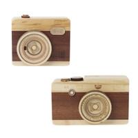 камерная музыка оптовых-Wooden Music Box Retro Camera Design Classical Melody Birthday Home Decoration Vocal Toys Christmas Gifts