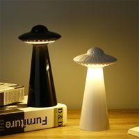 lâmpadas ufo venda por atacado-UFO Disco Voador Em Forma de Lâmpada de Mesa USB Carregado Estudo LED Night Light Crianças Sala de Leitura Olho Lanternas Cores Lisas 40fl E1