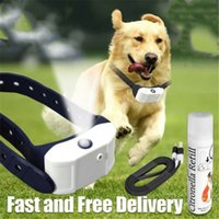 Wholesale bark collars dogs resale online - 2019 Newest Fashion Stop Barking Citronella Rechargeable Dog Collar Anti Bark Pet Train Mist Spray Hot Sale Y200515