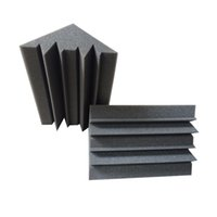 éponge acoustique achat en gros de-Piège acoustique de basse de charbon de bois de 12 PCs éponge pour le mur de coin, mousse d'absorption saine de studio Q190522