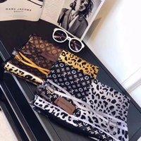 bufandas de impresión de la cadena al por mayor-2019 Primavera Nueva bufanda de Seda para Las Mujeres Venta Caliente Cadena de Leopardo Impreso Bufandas largas tamaño 180x90 CM Mantones Para Las Mujeres regalo