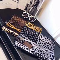 ingrosso chain print scarf-2019 Primavera Nuova sciarpa di seta per le donne di vendita calda catena di leopardo stampato sciarpe lunghe taglia 180x90 cm scialli per le donne regalo
