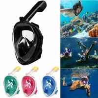 Wholesale masks set for sale - Group buy Adult Teenager Diving Mask Underwater Scuba Anti Fog Full Face Diving Mask Snorkeling Set with Anti skid Ring Snorkel mask MMA1639