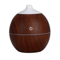 Wholesale electric diffuser ultrasonic resale online - 130ML USB Electric Aroma Air Diffuser Wood Ultrasonic Air Humidifier Essential Oil Aromatherapy Cool Mist Maker For Home Car