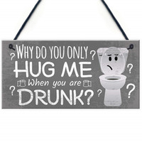 Novelty Bathroom Toilet Plaque Funny Home Wall Door Decor Hanging Shabby Chic Sign Gift