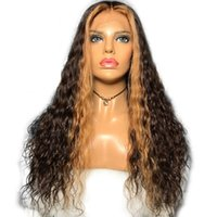 ingrosso colore parrucca 27 24-Highlights 27 # Parrucche per capelli umani in pizzo davanti Ombre Evidenziare le parrucche piene del merletto dei capelli brasiliani ondulati di colore con i capelli del bambino