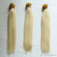 Wholesale nano rings hair resale online - GradLength Grade A Nano Rings Human Hair Extensions g pack g s s Blonde color I tip in Hai