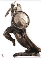 modelo de arte venda por atacado-Europeu antigo guerreiro artesanato grego artwork estátua armadura modelo samurai hotel modelo quarto artesanato decoração