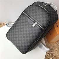 Wholesale louis backpack online - LOUIS VUITTON SUPREME MICHAEL Backpack  Men Leather Shoulder Bags MICHAEL KOR 2dd1070f5f0b9