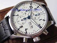 ingrosso orologio doppio movimento-Mens Luxury Top Quality 43mm X 15mm Cronografo svizzero ETA 7750 Movimento automatico Mens doppio fronte anti-stun blu rivestimento Orologi