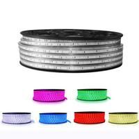 couleur lumière flex achat en gros de-LED bandes 220v 60 led / m led bande SMD5050 5mm 0.2W éclairage décoration intérieure décoration étanche