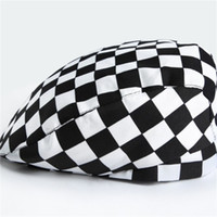 f6f850b9 Wholesale military berets for sale - Group buy Work Berets Plaid Caps  Servicer Hat Men And