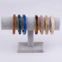 Wholesale acrylic hand bracelet for sale - Group buy New Vintage Resin Bracelets Bangles Women Lvory Brown Acrylic Wide Geometric Bangles Female Simple Charm Hand Decoration Jewelry