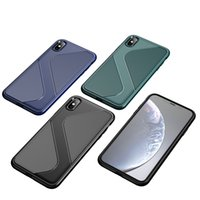 Wholesale iphone s back online – custom Slim Shockproof Bumper Silicone Phone Case for Iphone XS Max Soft TPU Full Protective Back Cover S Line Shape