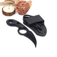 Wholesale bear claw knives resale online - Bear Claw Knife Fix Blade Karambit Knife Outdoor Combat Knife Survival Tactical Knives Stainless Steel Camping EDC Tools
