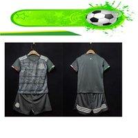kits juveniles al por mayor-Kits de niños 2019 2020 Copa Oro México Soccer Jersey negro 19 20 CHICHARITO H. LOZANO juvenil camisetas de fútbol infantil establece México camisas kits
