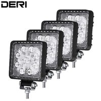 Wholesale round tractor lights resale online - 4 inch W D lens LED Work Light Waterproof Round Square Offroad Boat Truck Tractor Fog Light Spotlight Car Headlight Styling