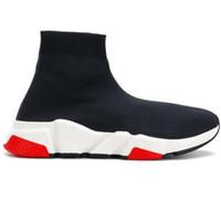 ingrosso calzini per uomo estate-2019 Estate calza scarpe di lusso nero bianco scarpe casual da uomo Oero nero scarpe da ginnastica scarpe da donna scarpe da ginnastica di design 36-45