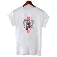 ingrosso v immagini delle maglie a collo-T-shirt da donna divertente con scollo rotondo in poliestere con stampa t-shirt