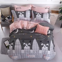 Wholesale king size bedding set grey resale online - Luxury Bedding Sets grey bedclothes Cotton Duvet Cover Bed Sheet Pillowcase Brief Set Full King Queen Twin Size Bedding XHS0125