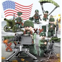 Wholesale military bricks toys for sale - Group buy WW2 Pacific War Battle Theater of Operation Military Building Block Brick USA Army Soldier Mini Figure Toy for Boy