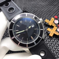 Wholesale watch bands rubber for sale - New Style Automatic Movement Men Watch Super ocean Black Dial Rubber Band Watch