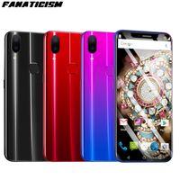 kamera video mini 4g großhandel-Fanatismus 3G Smartphone X21 6,2 Zoll MTK6580 Quad Core 1 GB RAM 16 GB ROM Handy Android 8.1 entsperrt Gesichtserkennung Handy