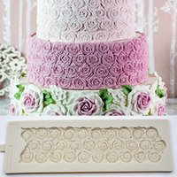 Wholesale 3d fondant rose mold for sale - Group buy 37 cm Sugar Rose Mould DIY Wedding Birthday Cake Mold Fondant Molds Silicone Molds for D Crafts Cake Decorating Tools K192 T191018