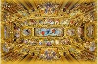fondos de pantalla europeos al por mayor-Foto de cualquier tamaño de encargo Mural de lujo del cenit de la iglesia europea Papel tapiz de murales de techo 3d