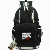 filme um dia venda por atacado-Pacote de dia de cuco Um voou sobre daypack de ninho mochila de McMurphy Packsack de filme Mochila de computador Saco de escola de esporte Fora mochila de porta