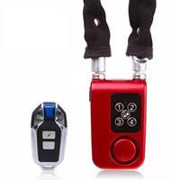 alarmkennwort großhandel-Drahtlose Fernbedienung Alarmschloss Elektrische Fahrrad Motorrad Passwort Stahlkabel Stahlkette Elektronische Diebstahlsicherung # 325336