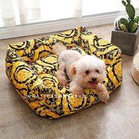 Wholesale baroque bedding for sale - Group buy LE VASE Baroque Medusa Teddy Pet Bed Small Dogs and Cats Bedding Sets Black Gold Classic Patterns Soft Bed Linen Pet Articles