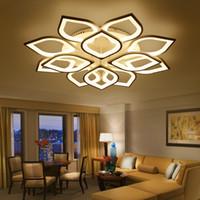 luzes do teto venda por atacado-Novo acrílico moderno luzes do candelabro do teto led para sala de estar quarto casa dec lampara de techo led moderna luminária