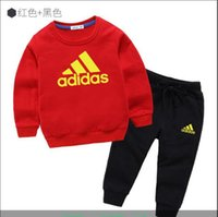 Wholesale 2019new children s cotton printed shirt fashion loose sports suit trend hoodie quality sweater baby clothes suit