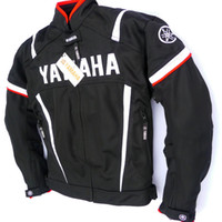 Wholesale moto racing jacket resale online - Motorcycle Racing Jacket For YAMAHA Removable Cotton lining Motocross Riding Clothing Jacket With Protective Gear Moto Jaqueta