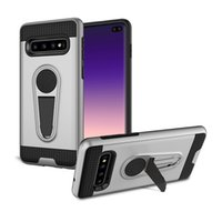 Wholesale phone case mount for sale - Group buy Hybrid Stand Holder Combo Case for Samsung Galaxy S10 Plus Cover Phone Protective Skin with Magnetic Car Mount