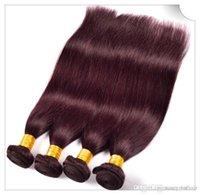 99j brasilianischer haareinschlagfaden großhandel-8A 6 teile / los 100% Menschliche Brasilianische Malaysische Indische Peruanische Mongolische Haarwebart Gerade Welle Haareinschlagverlängerung 300g Farbe 99J #