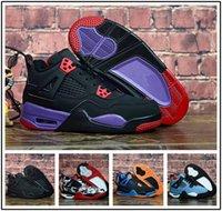 enfants de basket-ball garçons achat en gros de-nike air jordan aj4 2019 Nouveaux enfants chaussures 4 enfants chaussures de basket garçons et filles enfants 4s sports Basketball Sneakers chaussures jeunes sneakers taille 28-35