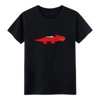 formalen t-shirt kurze ärmel großhandel-Drache Verärgerter Dino Cool T-Shirt Männer-Charakter Kurzarmshirt mit runden Ausschnitt Formal-Falten Breath Frühlings-Herbst-T-Shirts