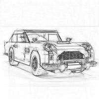 bloques de construcción set coches al por mayor-21046 Compatible Creator Expert 10262 Aston Martin DB5 Set Building Blocks Ladrillos Niños Modelo de coche Regalos Juguetes educativos