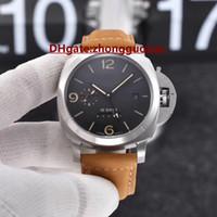 relógios brilhantes venda por atacado-Nova marca de moda europeia e americana dos homens assistir movimento automático de alta qualidade mineral resistente a riscos de vidro super brilhante luminosa